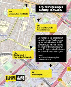 Karte für den 16.05.2020